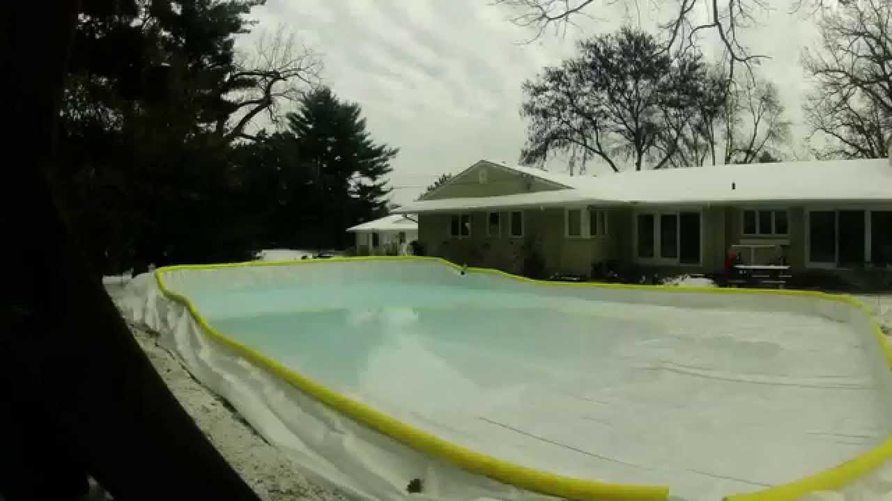 chlorinated water supply nicerink time lapse skating rink fill