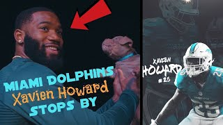 Miami Dolphins Xavien Howard stops by to pick up his bully puppy
