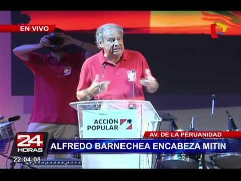 Alfredo Barnechea encabezó mitin en el Campo de Marte