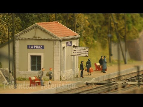 """Masterpiece of model railroading from France: The model railroad layout """"La Maurienne"""" in HO Scale"""