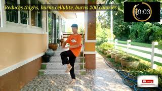 Burn Fat, Reduce Big Thighs, Burn 200 Cal, Easy To Do At Home,