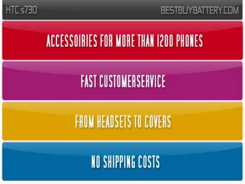 HTC s730 www.bestbuybattery.com