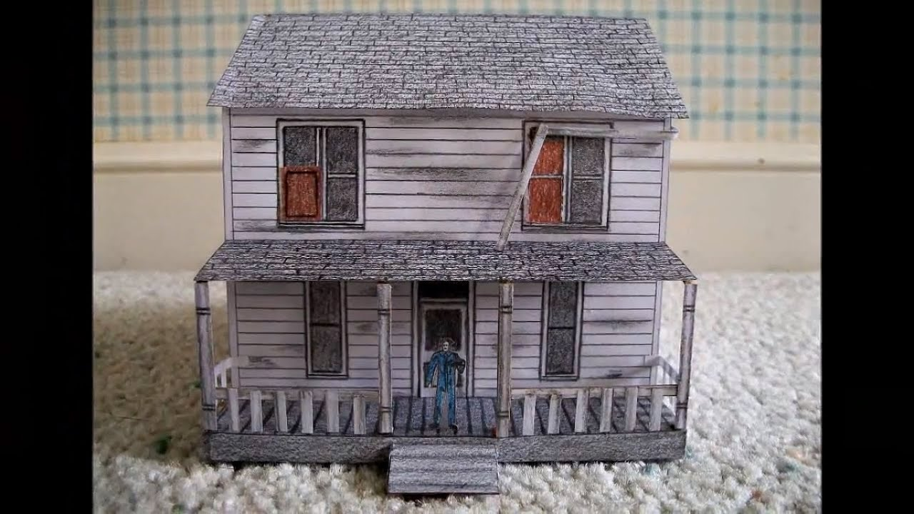 Paper model of michael myer 39 s house from the movie for Model house movie