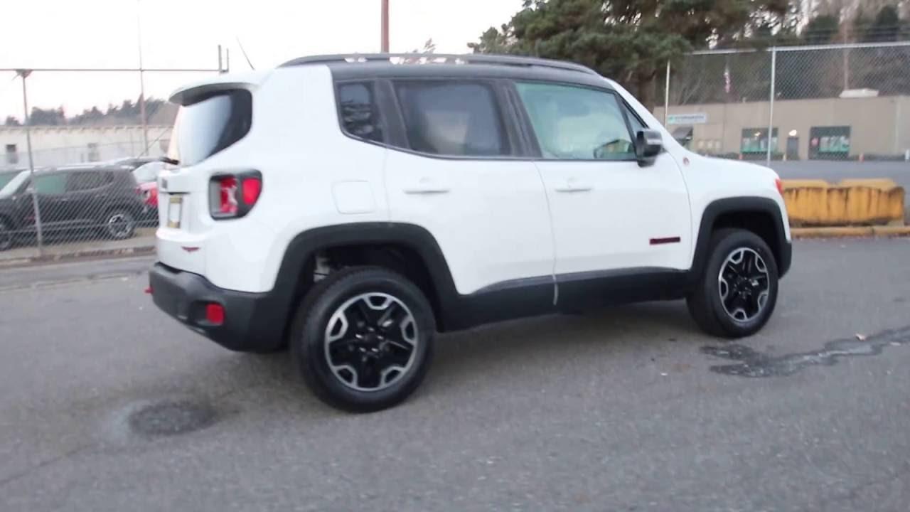 2017 Jeep Renegade Trailhawk Hpe40008 Alpine White