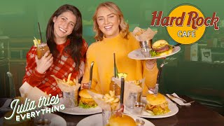 Trying ALL Of The Most Popular Menu Items At Hard Rock Cafe Ft. Tess From Iconic Eats
