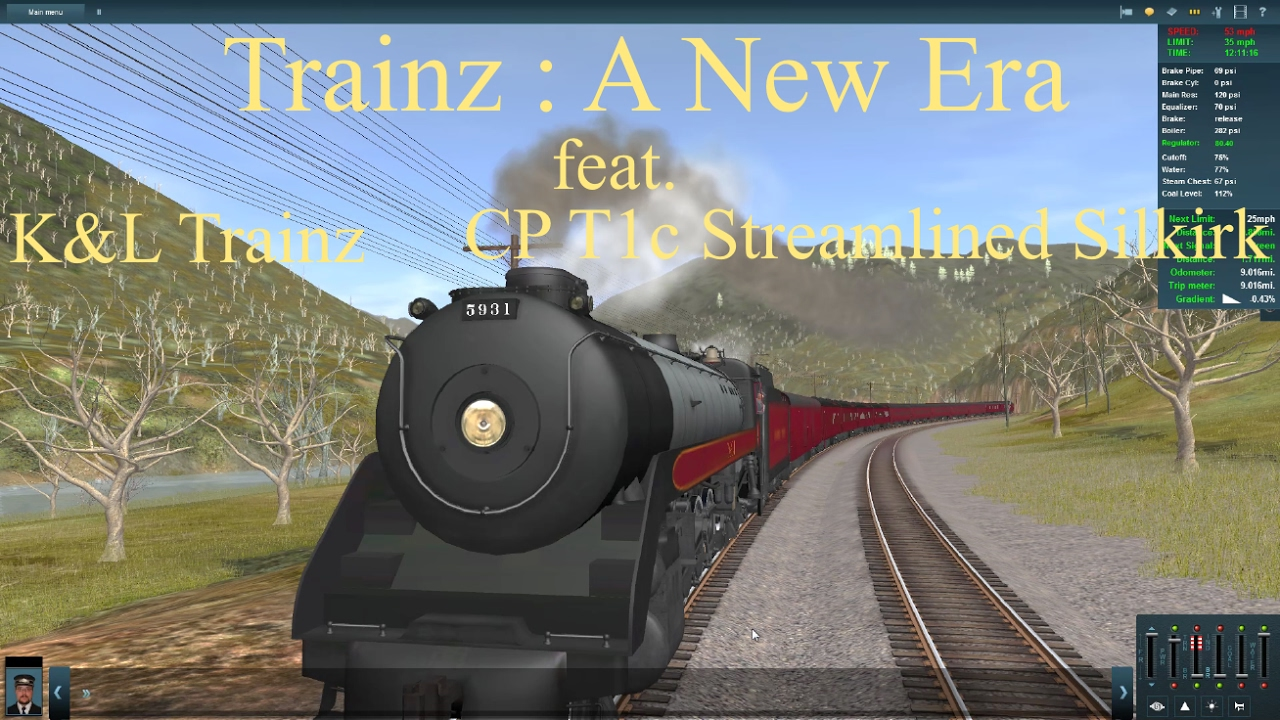 Trainz : A New Era feat  K&L Trainz Canadian Pacific T1c Streamlined