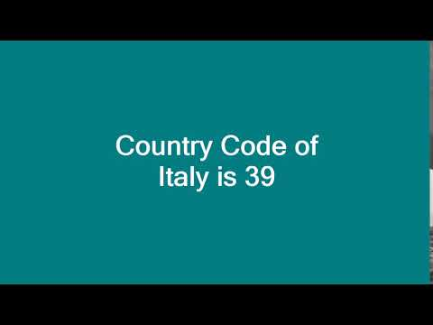 Country Code of Italy is 39