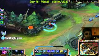 Vayne jungle Pentakill Patch 5.13 LoL Platinium elo