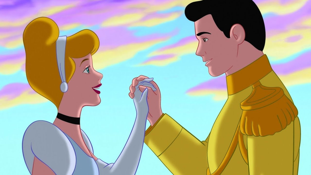 Disney princes and princesses kissing