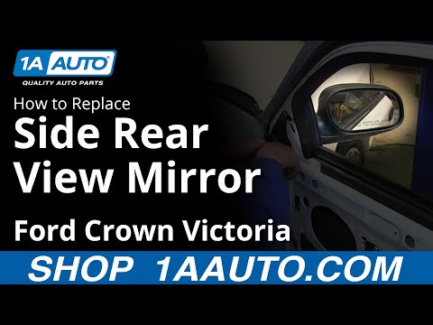 RIGHT RH PASSENGER SIDE MIRROR GLASS FOR 98-10 CROWN VICTORIA GRAND MARQUIS