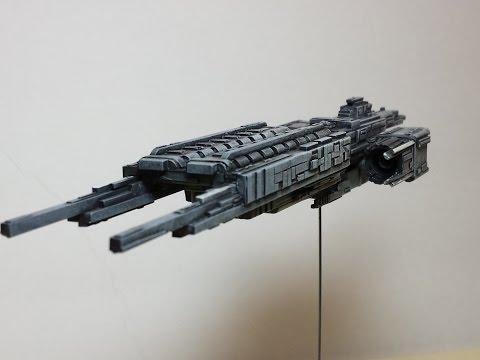 Scratch built styrene sci-fi spaceship