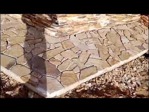 Облицовка цоколя и крыльца натуральным камнем