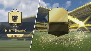 ARE 84+ TOTW TRADEABLE PACKS WORTH IT?! FIFA 17 SBC EXPERIMENT!