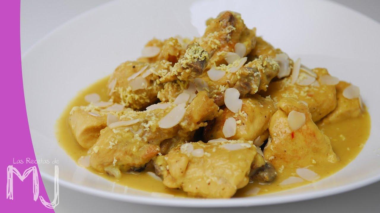 Pollo En Pepitoria Receta Tradicional Youtube