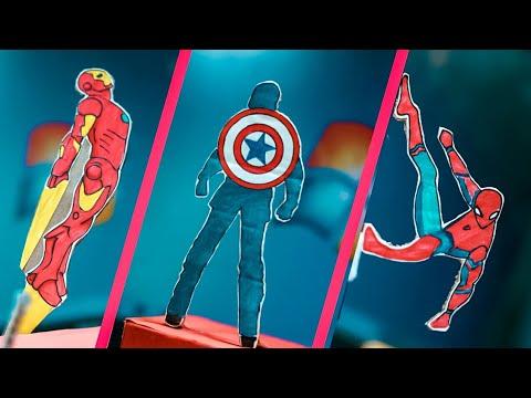 DIY avengers room decore project // diy Marvel craft.