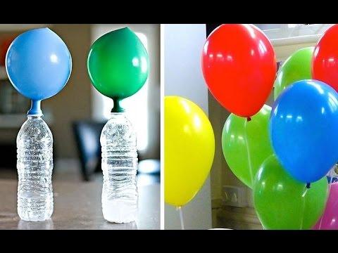 El Experimento VINAGRE + BICARBONATO  con los globos