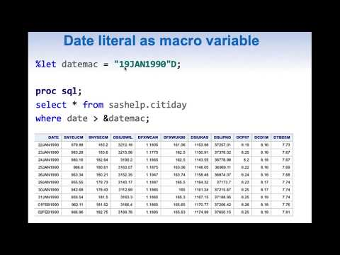 Date as SAS Macro variable – common issues and solutions