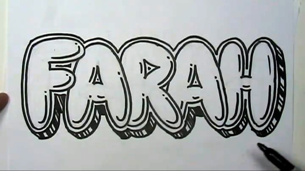 How To Draw Graffiti Letters Write Farah In Bubble Letters Mat