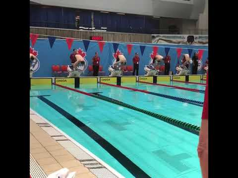 Ross Minor Swims The 50 Free: Montreal, Canada