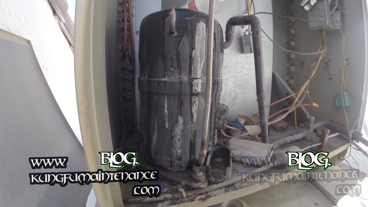 Check Out How Hot This Overheated Air Conditioner Compressor Got Hvac Maintenance Video
