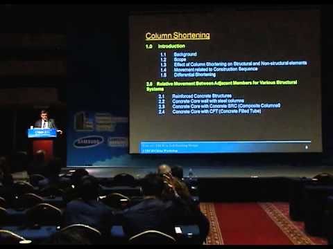 "CTBUH 2011 Seoul Conference - Ahmad K. Abdelrazaq, ""Design Guides for Column Shortening-"""