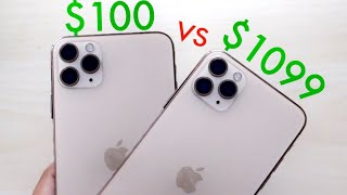 Fake $100 iPhone 11 Pro Vs Real iPhone 11 Pro! (Comparison) (Review)