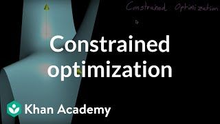 Constrained optimization introduction