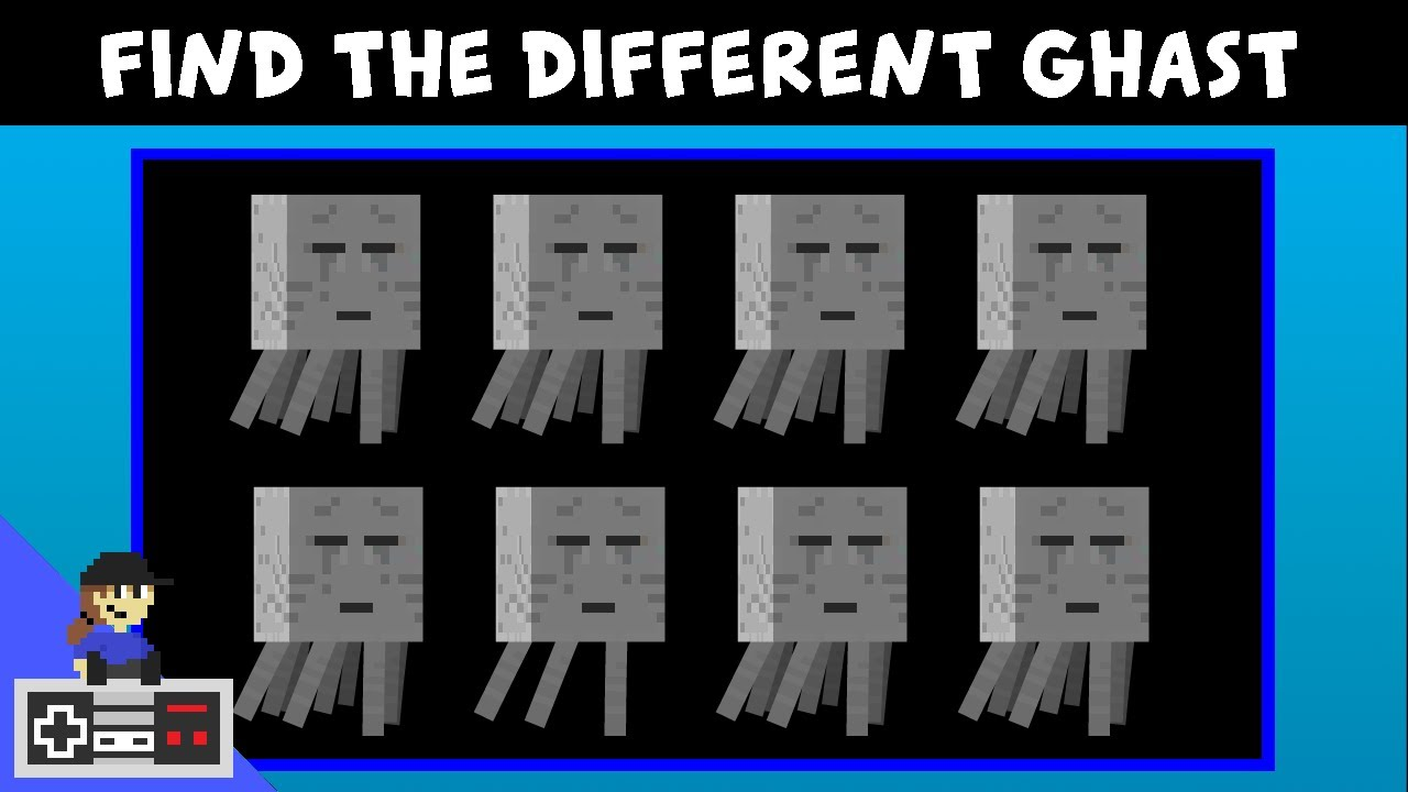 Find the different MINECRAFT character - Level UP Minigames