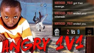 TRYHARD KID RAGES IN A 1V1 AND TURNS PS4 OFF! (GTA 5 Funny Moments)