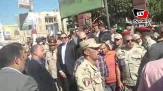 الآلاف يودعون المقدم محمد هارون بجنازة عسكرية في بني سويف