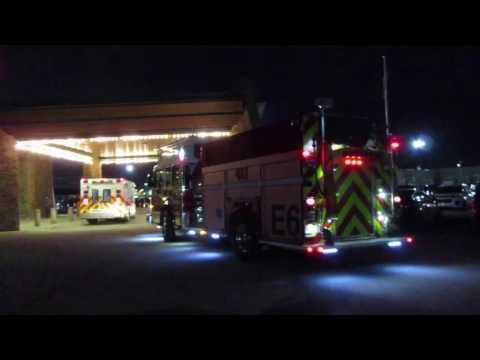 Lethbridge Fire Department Engine 6 on scene