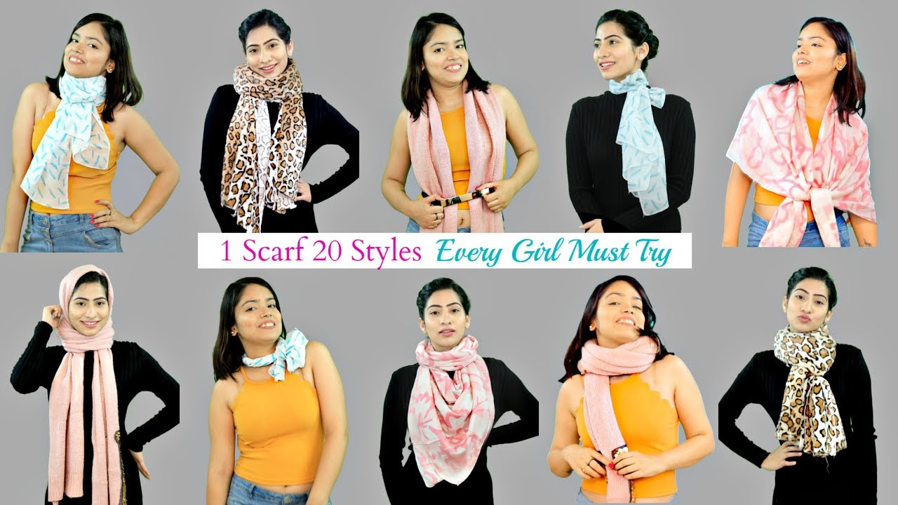 How to Style a Scarf in 20 Ways - Fashion HACKS Every Girl Must Know | Anaysa