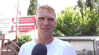 Patrik Malý po výhře v 1. kole kvalifikace na turnaji Futures v Pardubicích