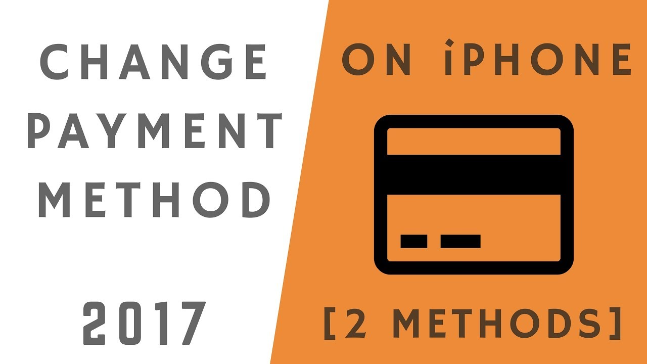 how to change payment method on iphone youtube
