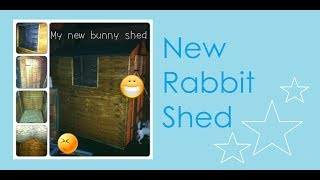 New Rabbit Shed