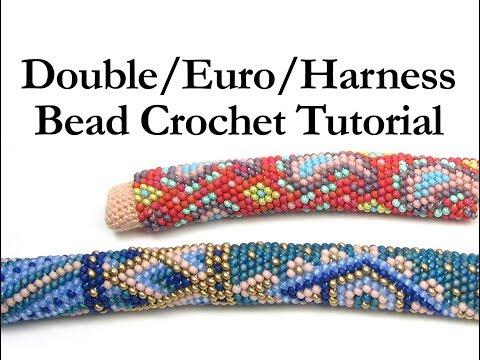 Double Euro Harness Bead Crochet Ann Benson