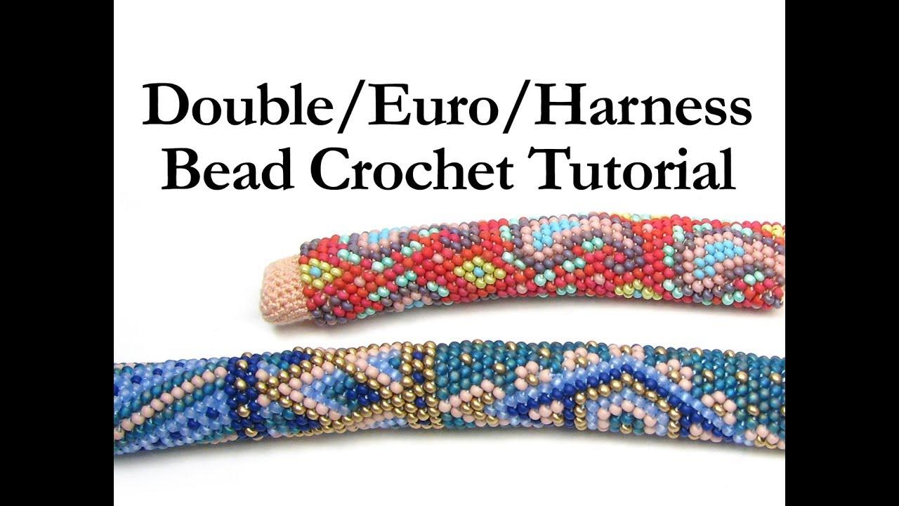 Double Euro Harness Bead Crochet Ann Benson Youtube