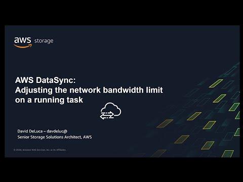 AWS DataSync -  Adjusting the Network Bandwidth on a Running Task