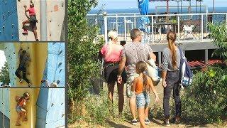 Спорт. Для Всей Семьи. Тренировка На Скалодроме. Sport. For Family. Climbing wall