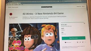 A New Nintendo 64 Game: 40 Winks