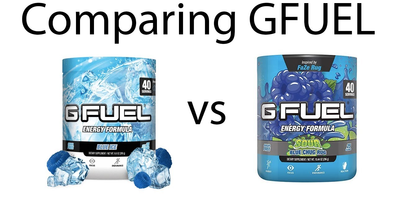 Comparing Blue Ice And Sour Blue Chug Rug Gfuel Youtube