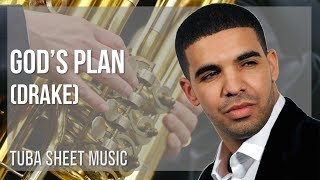 EASY Tuba Sheet Music: How to play God's Plan by Drake