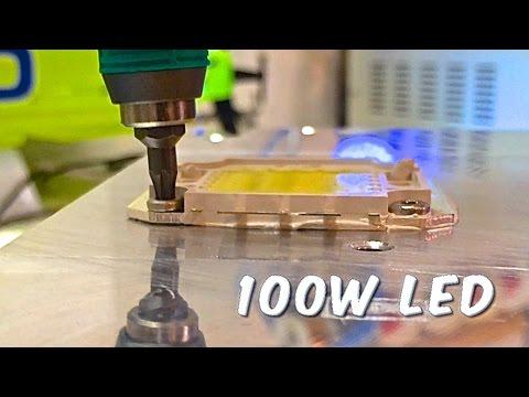 100 watt 50 watt leds heat sink install youtube. Black Bedroom Furniture Sets. Home Design Ideas