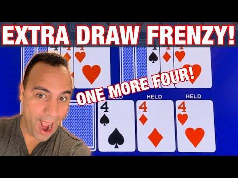**BONUS VIDEO** | Extra Draw Frenzy!! ♥️ ♠️ ♦️ |$1 Denom, $18-$30 BETS! | Double Double Bonus 🎉💵