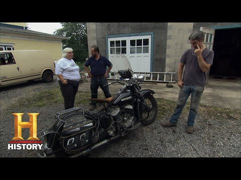 American Pickers: A Vintage 1947 Flathead Harley Davidson Motorcycle (Season 12) | History