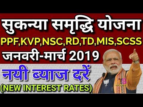 Sukanya Samriddhi Yojana 1 Jan 2019 New Interest Rate   PPF, KVP, NSC, SCSS, MIS, Post Office Scheme