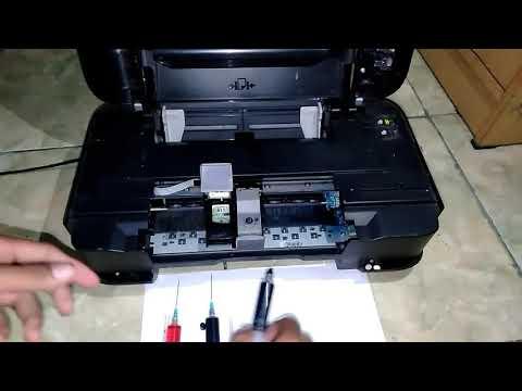 Cara mengisi cartridge warna canon.