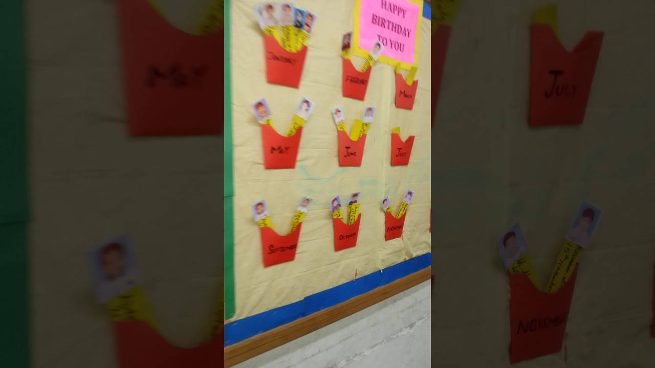 Birthday Chart Classroom Soft Board Decoration Ideas 2017