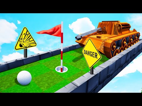 Can You WIN From A TANK?! (Golf It)