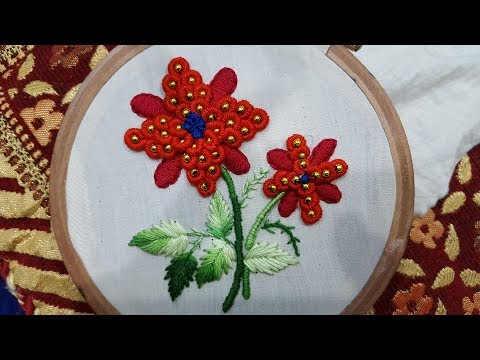 Bullion knot stitch|hand embroidery